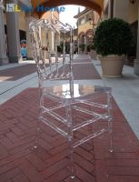 Crown chiavari chair crystal clear wedding chair banquet hotel chair