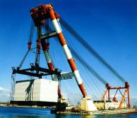 sheerleg 3000t floating crane 3000 ton shearleg floating crane barge cheap sale