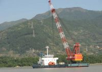 150t floating crane barge 150 ton $0.8million for cheap sale crane ship vessel 150t