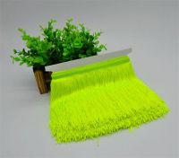 Top selling fluorescent color high quality rayon fringes for lampshade decoration