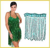 Newest  shiny fashionable custom sequins rayon fringe tassel trimming for dancewear skirt dress