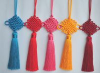 Traditional fluorescent tassels with chinese knot for home and graduation cap decoration