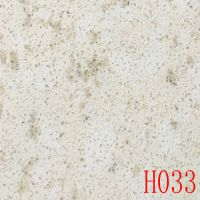 Artificial white background + brown quartz stones
