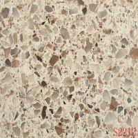 Cheap high quality taupe + coffee patch quartz stones