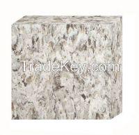 Quartz stones with dark gray and white pattern