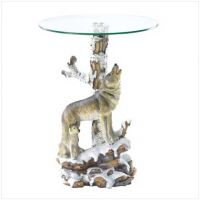 Wolf Table With Glass Tabletop