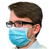 FDA Approved Colourful Ear Loop Tie On Non Woven Medical Disposable 3 Ply Surgical Face mask