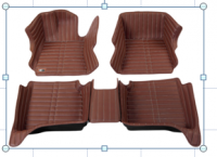 Full protection PVC leather car floor mat