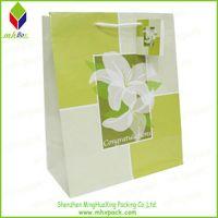 Flower Printing Packaging Paper Bag for Gift