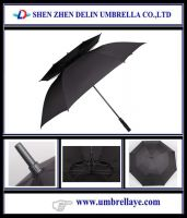 Double layer windproof umbrella fashion umbrella straight golf umbrella