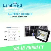 30W Outdoor LED Solar Flood Light With RF Control