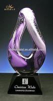 Modern Fashion Designer Home Decor Hand Blown Glass Trophy
