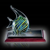 Home Decor Colorful Art Animal Craft Hand Blown Glass Bear