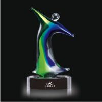 Chinese Manufacturer Hand Blown Glass Trophy  Crystal Ball for Home Decor