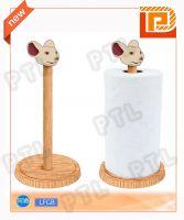 vertical wooden tissue holder