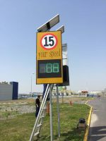 solar powered radar speed detection LED display
