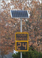 solar powered radar speed led display detection