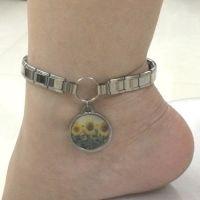 Customized italian charm anklet