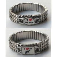 Customized stretch bracelet stainless steel