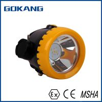 Coal miners headlamp, underground waterproof miners cap lamp, safety helmet cap lamp