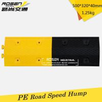 Wholesale 500mm Yellow & Black PE Plastic Roadway Safety Ramp Speed Hump