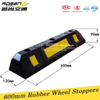 Single rubber wheel stop for parking lots and garages 600*120*100mm