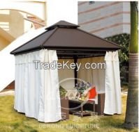 Derong outdoor furniture PE rattan gazebo garden pilvilion