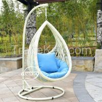 PE rattan patio swing hanging egg chairs