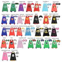 New kids Party cosplay Superman capes with mask Halloween Party 100set