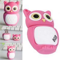 Pink Hot Owl 8GB Gift Pen drive cartoon USB2.0 Memory Flash Stick Storage U Disk