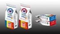 OEM Printed zipper stand up pet food packaging bag