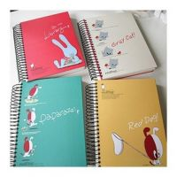 Thick  Notebook Spiral 100 paper Small Notepad mini portable Korea Business Creative diary