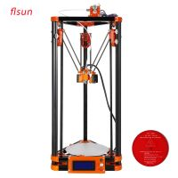 2016 Diy Kossel FLSUN 3d Printer, Large Printing Size 3d-Printer Delta 3d Printer With 40m Filament 8GB SD Card