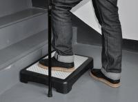 Black plastic extra large platform half step stool