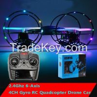 2 in 1 Air-ground CK-07 2.4G 4CH Quad Copter Drone for Sale