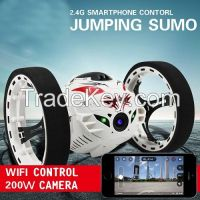 Wifi Controlled Insectoid Robot Jumping Sumo RC Car with Wireless HD