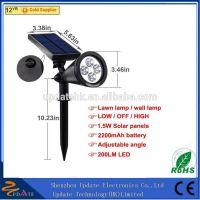 200LM Led Solar Stake Led Spotlight Solar Outdoor Garden Spike Spot lights