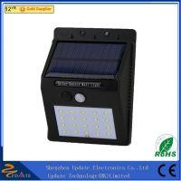 China wholesale wall mounted wireless solar motion light durable 16 LED solar wall lamp panel light