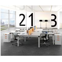 Office staff desks workstation high partitions office desk in public office area