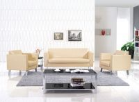 Eileen stainless steel PU or leather office sofa sets with 123 seats