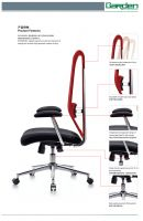 Fashion design best quality metal tube office chair with fabric mesh upholstered