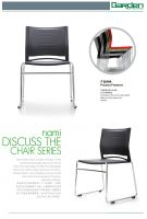 stackable of Plastic seat and backrest writting chair with PU cushon for options