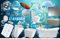 MUNK Corian bathtub+basin+toilet+faucet(Mixer)+bathroom fittings+cabinet+shower+mirror+shower room+bidet