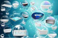 MUNK Corian bathtub+Acrylic bathtub+traditional bathtub+massage bathtub+freestanding bathtub+built-in bathtub+transparent bathtub