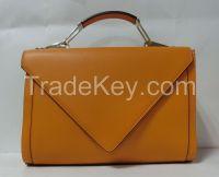 2016New Brand PU Lady's hangbag, envelope bag, yellow