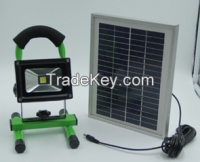 10W led solar light hand lamp for home and camping