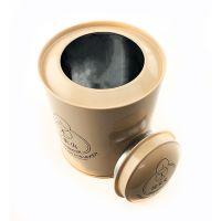 luxury round tea tin cans