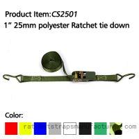 "CS2501 1"" 25mm polyester ratchet tie down"