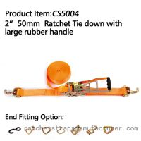 CS5004 2� 50mm Ratchet Tie down with large rubber handle