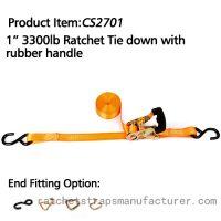 CS2701 1� 3300lbs Ratchet Tie down with Rubber handle